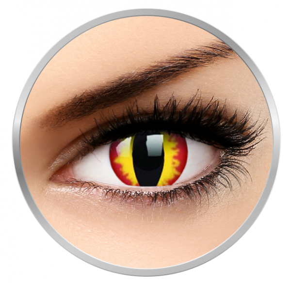 ColourVUE Crazy Dragon Eyes - Yellow Contact Lenses yearly - 360 wears (2 lenses/box)