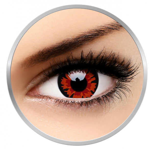ColourVUE Crazy Volturi - Red Contact Lenses yearly - 360 wears (2 lenses/box)