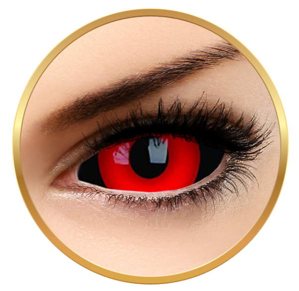 ColourVUE Sclera Gremlin - Red Contact Lenses yearly - 185 wears (2 lenses/box)
