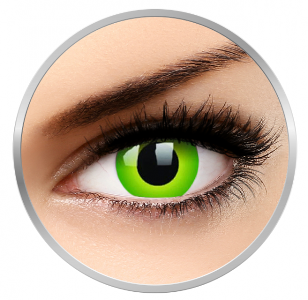 ColourVUE Crazy Hulk Green - Green Contact Lenses yearly - 360 wears (2 lenses/box)
