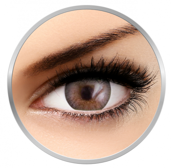 Phantasee Natural Monthly Crystal Grey - Blue Contact Lenses monthly - 30 wears (2 lenses/box)