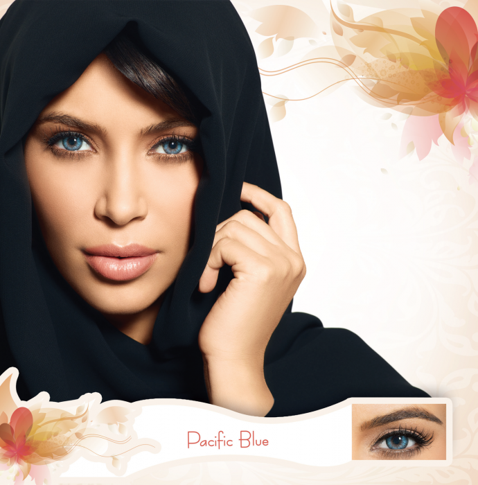 Bella Diamonds Collection Pacific Blue - Blue Contact Lenses Quarterly - 90 wears (2 lenses/box)