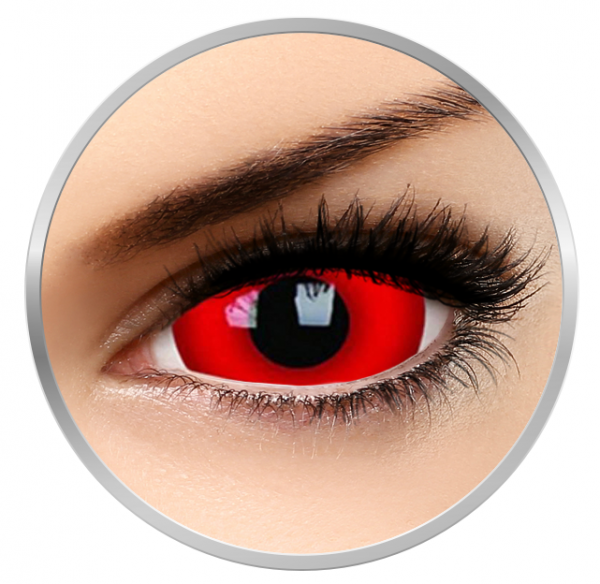 Phantasee Fancy Daredevil - Red Contact Lenses yearly - 360 wears (2 lenses/box)