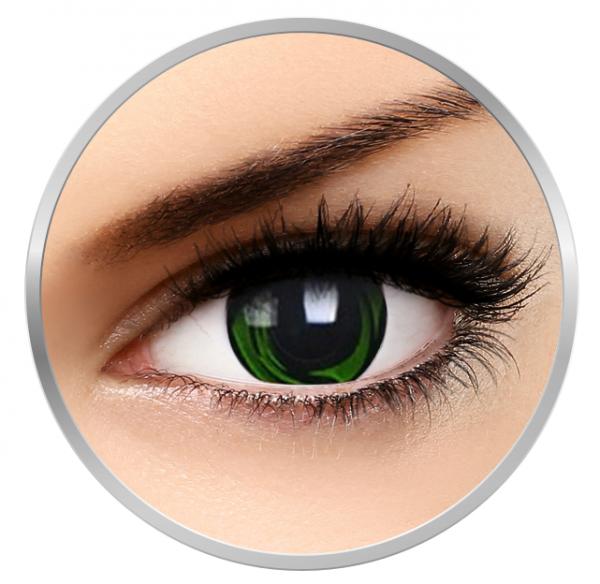 Phantasee Fancy Green Galaxy - Green/Black Contact Lenses yearly - 360 wears (2 lenses/box)