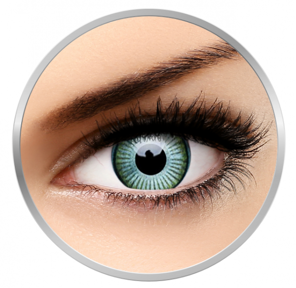 ColourVUE Crazy Kronos - Green Contact  Lenses yearly - 360 wears (2 lenses/box)