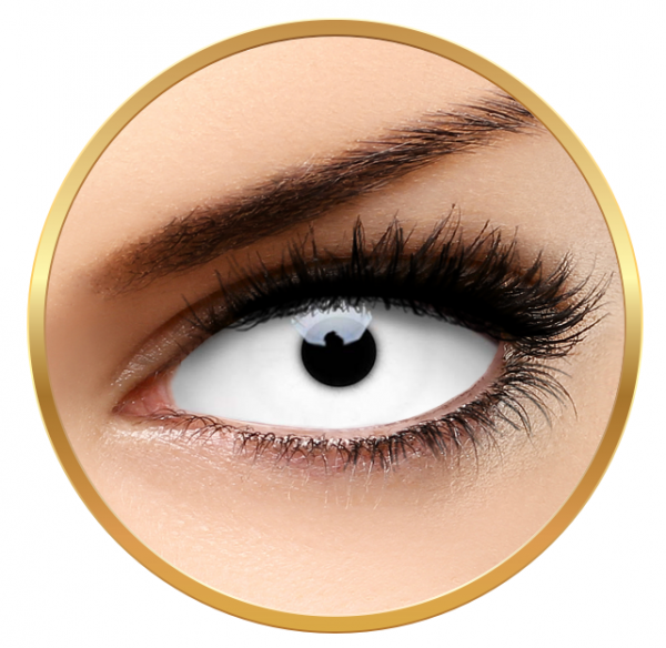 ColourVUE Sclera Snow Witch - White Contact Lenses yearly - 185 wears (2 lenses/box)