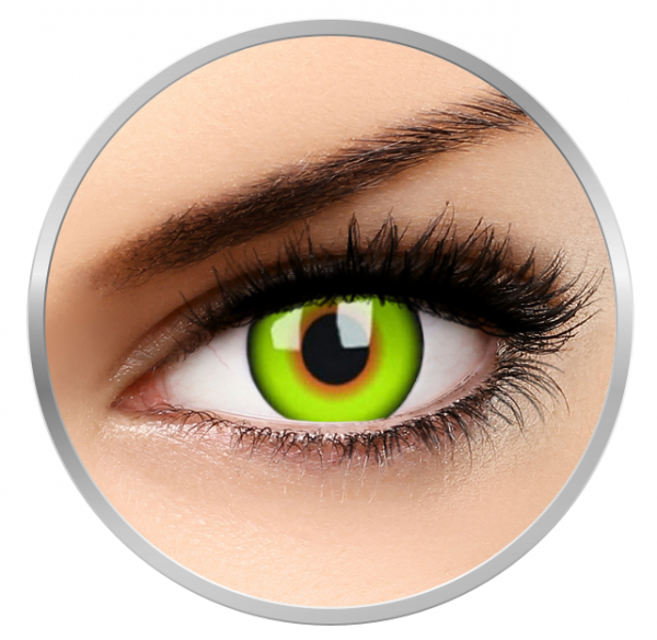 ColourVUE Crazy Mad Hatter - Yellow Contact Lenses yearly - 360 wears (2 lenses/box)