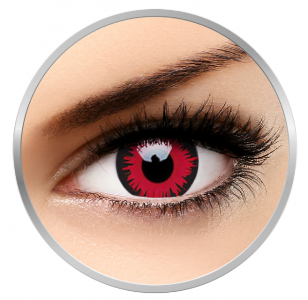 ColourVUE Crazy Vampire - Red Contact Lenses yearly - 360 wears (2 lenses/box)