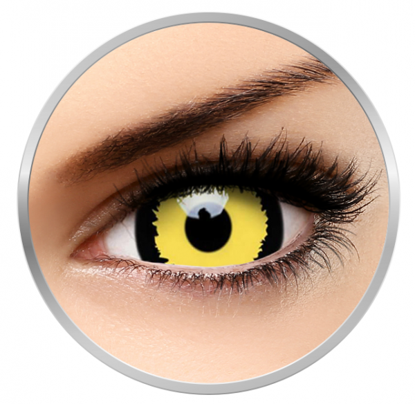 ColourVUE Crazy Tigera - Yellow Contact Lenses yearly - 360 wears (2 lenses/box)