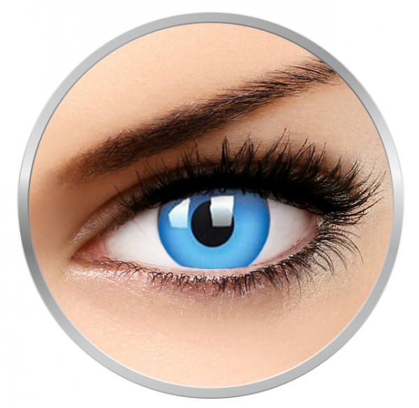 ColourVUE Glow Blue - Blue contact Lenses yearly - 360 wears (2 lenses/box)