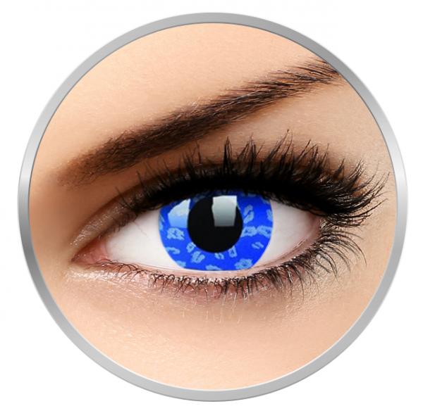 ColourVUE Crazy Blue Leopard – Blue Contact Lenses yearly - 360 wears (2 lenses/box)