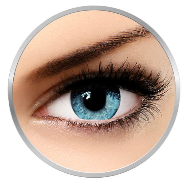Soleko Queen's Solitaire Light Blue - Blue contact Lenses quarterly - 90 wears (2 lenses/box)