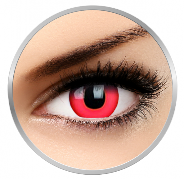 Phantasee Fancy Dracula - Red Contact Lenses yearly - 360 wears (2 lenses/box)