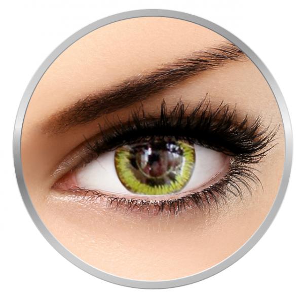 Phantasee Fancy Gaia - Yellow/Black Contact Lenses yearly - 360 wears (2 lenses/box)