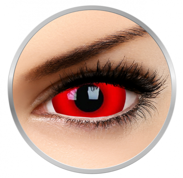 ColourVUE Crazy Daredevil - Red Contact Lenses yearly - 360 wears (2 lenses/box)