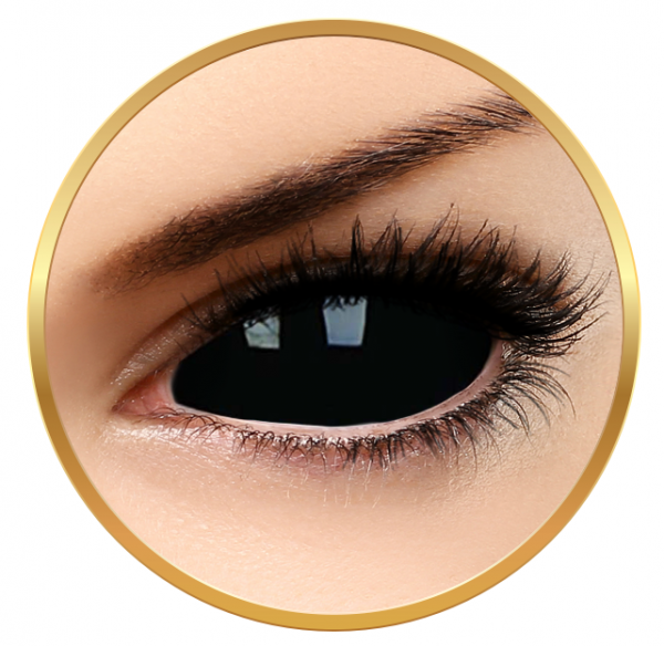 ColourVUE Sclera Sabretooth - Black contact Lenses yearly - 185 wears (2 lenses/box)