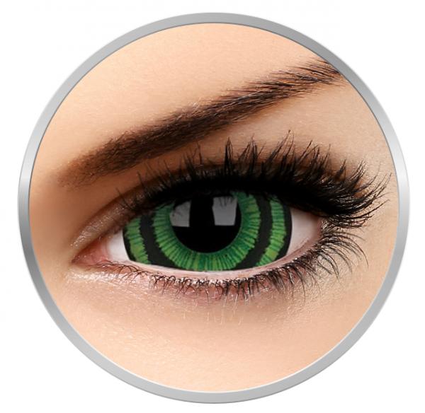 ColourVUE Crazy Green Goblin - White Contact Lenses yearly - 360 wears (2 lenses/box)