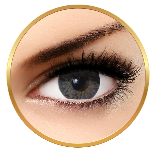 Bella Natural Looking Lenses Grey - Grey Contact Lenses Quarterly - 90 wears (2 lenses/box)