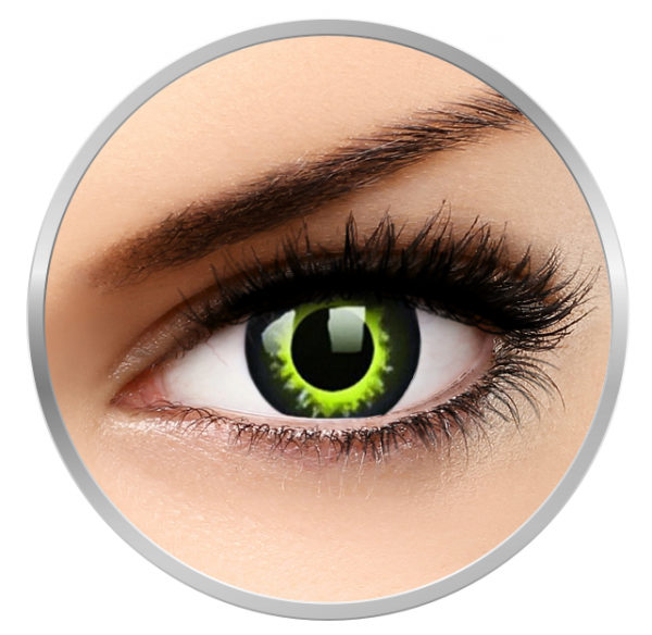 Phantasee Fancy Werewolf - Green/Black Contact Lenses yearly - 360 wears (2 lenses/box)