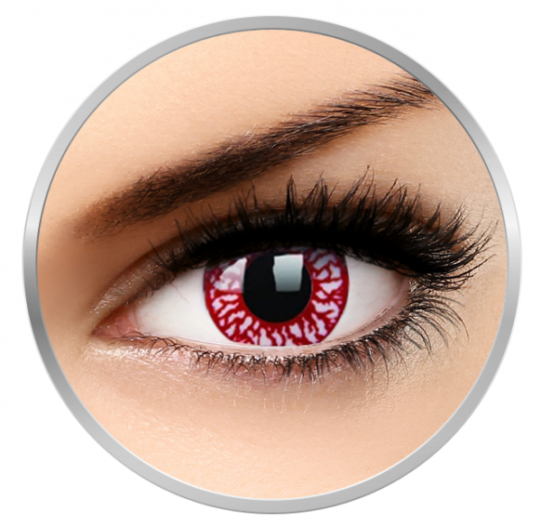 MaxVue Vision Crazy Blood Shot - Red Colored Contact Lenses yearly- 360 wears (2 lenses/box)