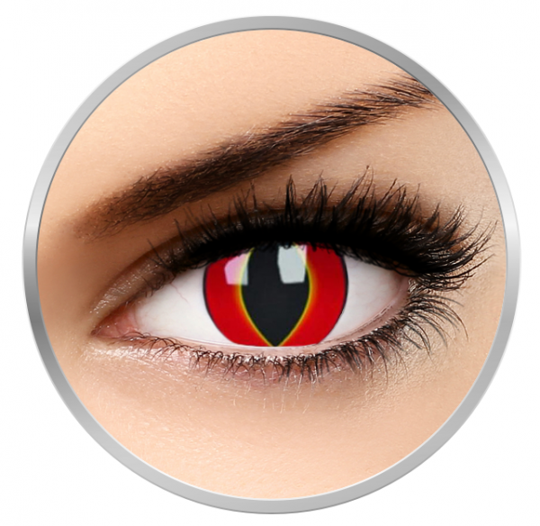 MaxVue Vision Crazy Mad Frog - Red Contact Lenses yearly- 360 wears (2 lenses/box)