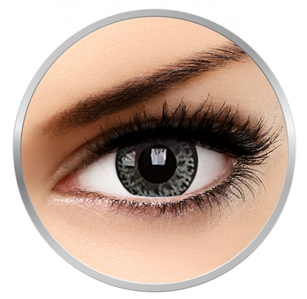 MaxVue Vision Diva Gray - Grey Colored Contact Lenses - 90 wears (2 lenses / box)