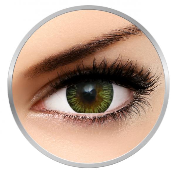 MaxVue Vision Enchanter Brown - Green Contact Lenses quarterly - 90 wears (2 lenses / box)