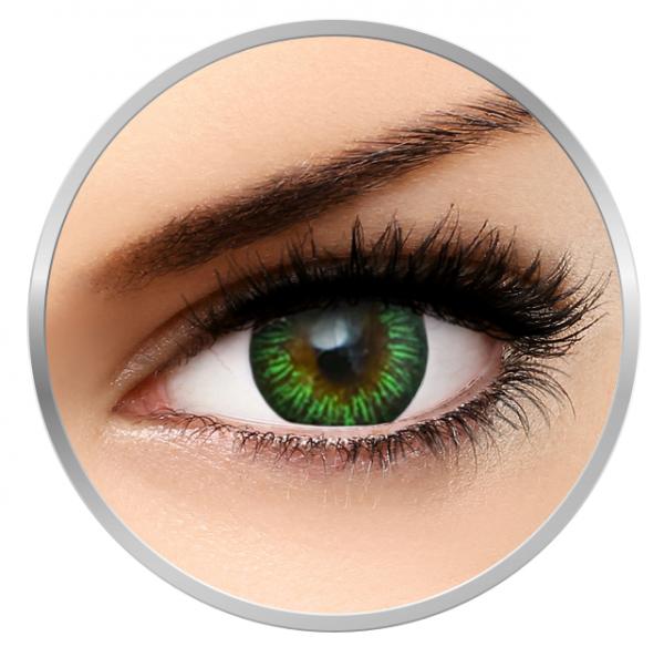 MaxVue Vision Enchanter Green - Green contact lenses quarterly - 90 wears (2 lenses / box)