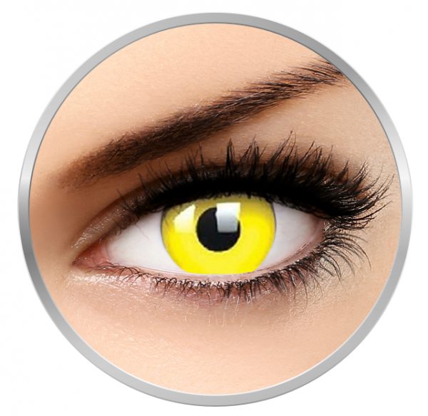 MaxVue Vision Fancy Yellow - Yellow Colored Contact Lenses yearly - 360 wears (2 lenses/box)