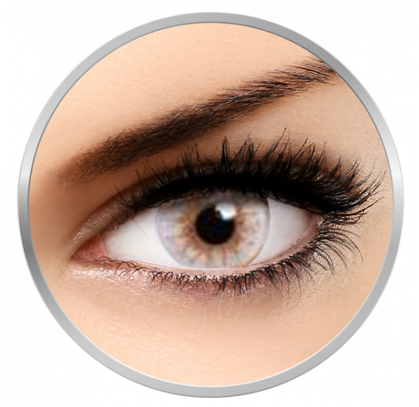 MaxVue Vision Flash Elixor Ecru White - White Colored Contact Lenses - 90 wears (2 lenses/box)