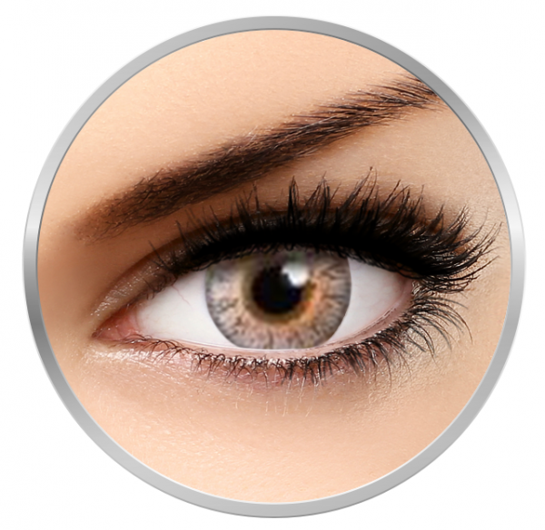 MaxVue Vision Flash Glam Grey - Grey Contact Lenses - 90 wears (2 lenses / box)