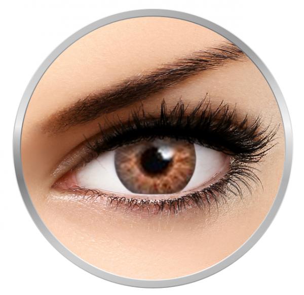 MaxVue Vision Flash Glam Honey - Brown Contact Lenses - 90 wears (2 lenses / box)