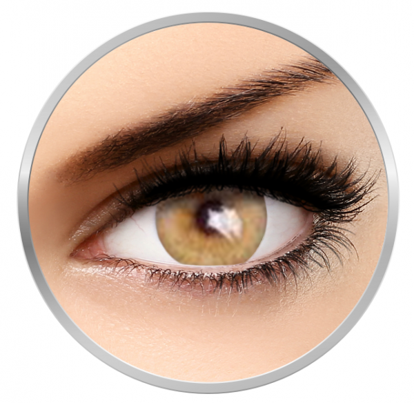 MaxVue Vision Flash Venicol Amber Yellow - Yellow Colored Contact Lenses - 90 wears (2 lenses/box)