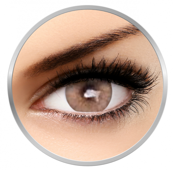 MaxVue Vision Flash Venicol Dairy Peach - Brown Colored Contact Lenses - 90 wears (2 lenses/box)