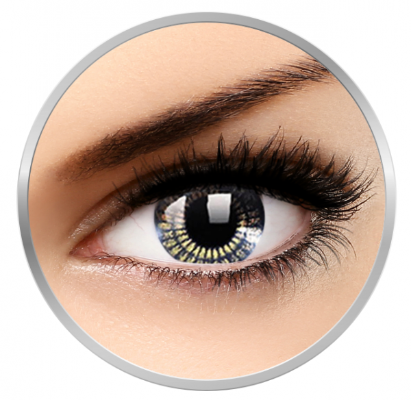 MaxVue Vision Stars & Jewel Black Gold - Colored Contact Lenses quarterly - 90 wears (2 lenses / box)