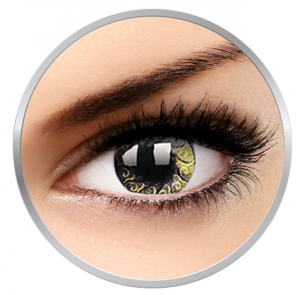 MaxVue Vision Stars & Jewel Gold - Colored Contact Lenses quarterly - 90 wears (2 lenses / box)