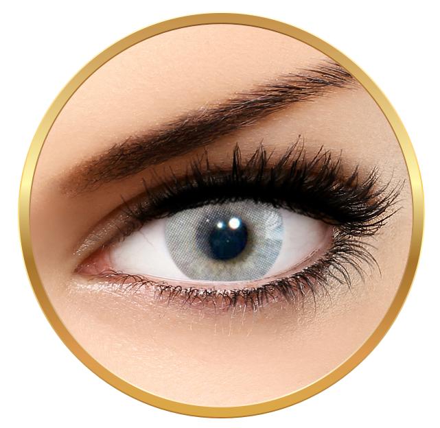 Solotica Hidrocor Cristal Grey - Grey Colored Contact Lenses Monthly - 30 wears (2 lenses/box)