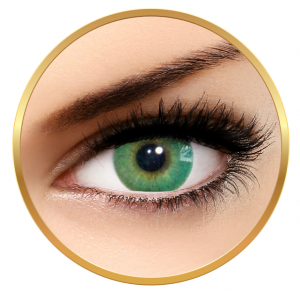 Solotica Hidrocor Verde - Green Contact Lenses yearly - 365 wears (2 lenses/box)