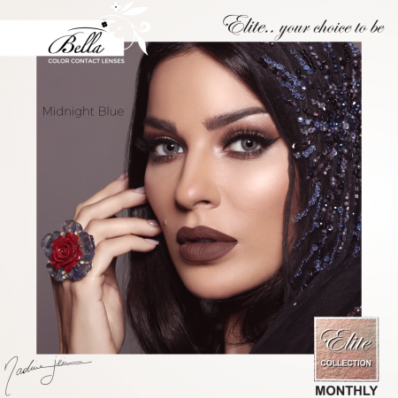 Bella Elite Collection Midnight Blue - Blue Contact Lenses Quarterly - 90 wears (2 lenses/box)