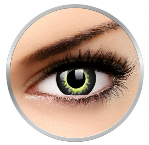 ColourVUE Crazy Eclipse - Green Contact Lenses yearly - 360 wears (2 lenses/box)