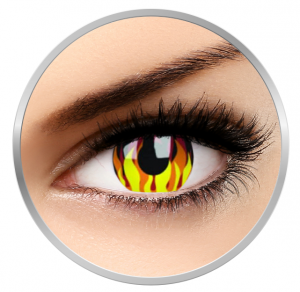 ColourVUE Crazy Flame Hot - Yellow Contact Lenses yearly - 360 wears (2 lenses/box)