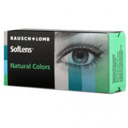 Bausch & Lomb Soflens Natural Colors Aquamarine - monthly aquamarine colored contact lenses - 30 wears (2 lenses / box)