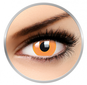 ColourVUE Glow Orange – Orange Contact Lenses yearly - 360 wears (2 lenses/box)