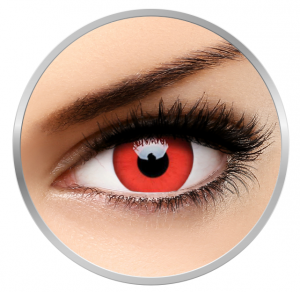 MaxVue Vision Crazy Red Devil - Red Colored Lenses yearly - 360 wears (2 lenses / box)