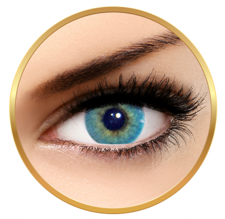 Solotica Hidrocor Topazio - Blue Colored Contact Lenses Monthly - 30 wears (2 lenses/box)