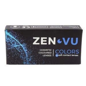 ZenVu Bright Blue - Blue Contact Lenses quarterly - 90 wears (2 lenses / box)
