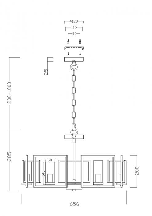 CANDELABRU CLASIC BOWI SP6 - H009PL-06G [1]
