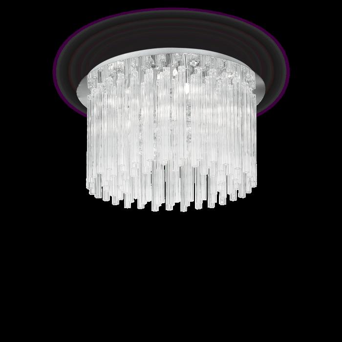 PLAFONIERA CLASICA CU CRISTALE - ELEGANT PL8 - IDEAL-LUX [0]