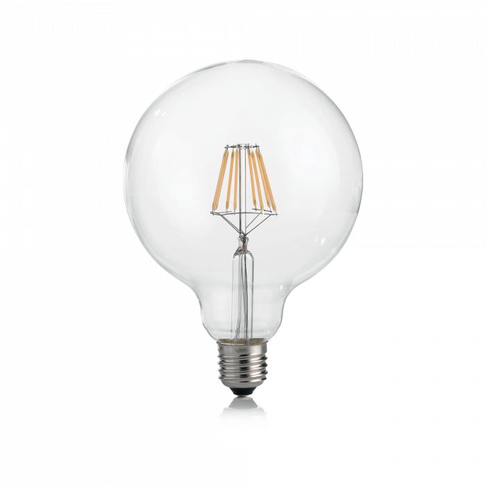LAMPADINA CLASSIC E27 8W GLOBO D125 TRASP 3000K [0]