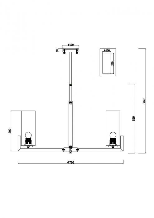 CANDELABRU FORTANO SP8 - MOD089PL-08BS [2]
